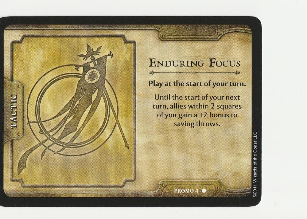 5 - Enduring Focus Dungeons & Dragons 4th ed. Shadow over Nentir Vale Promo #4 WotC RPG CCG