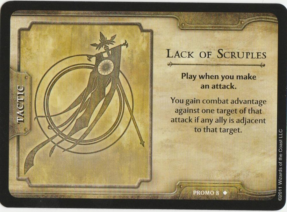 Lack of Scruples  Dungeons & Dragons 4th ed. Shadow over Nentir Vale Promo #8 WotC RPG CCG
