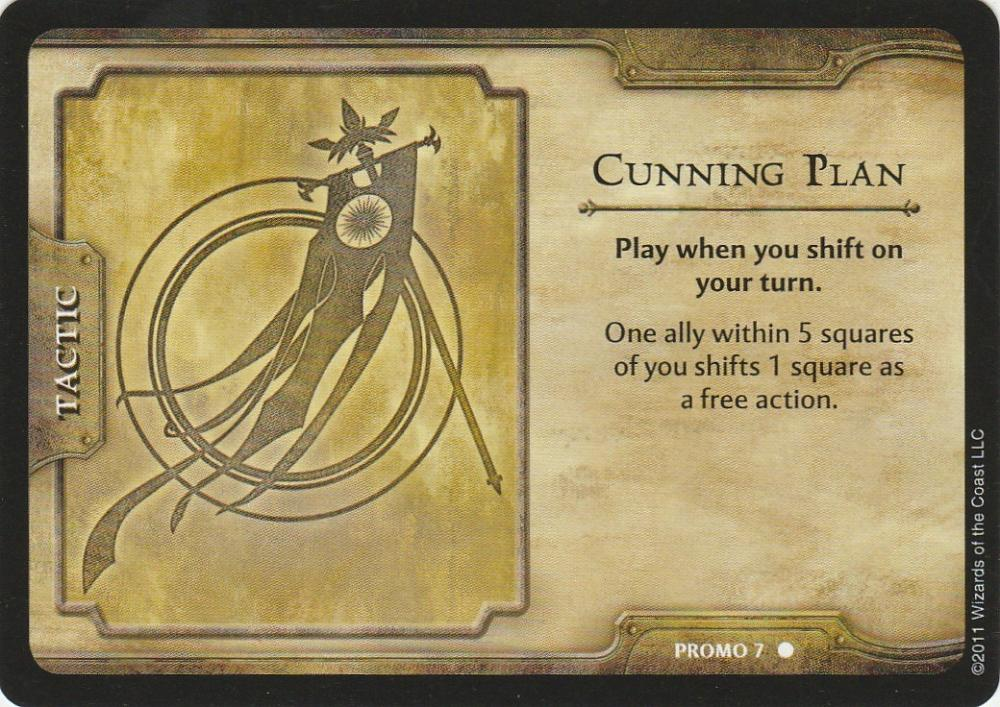 Cunning Plan Dungeons & Dragons 4th ed. Shadow over Nentir Vale Promo #4 WotC RPG CCG