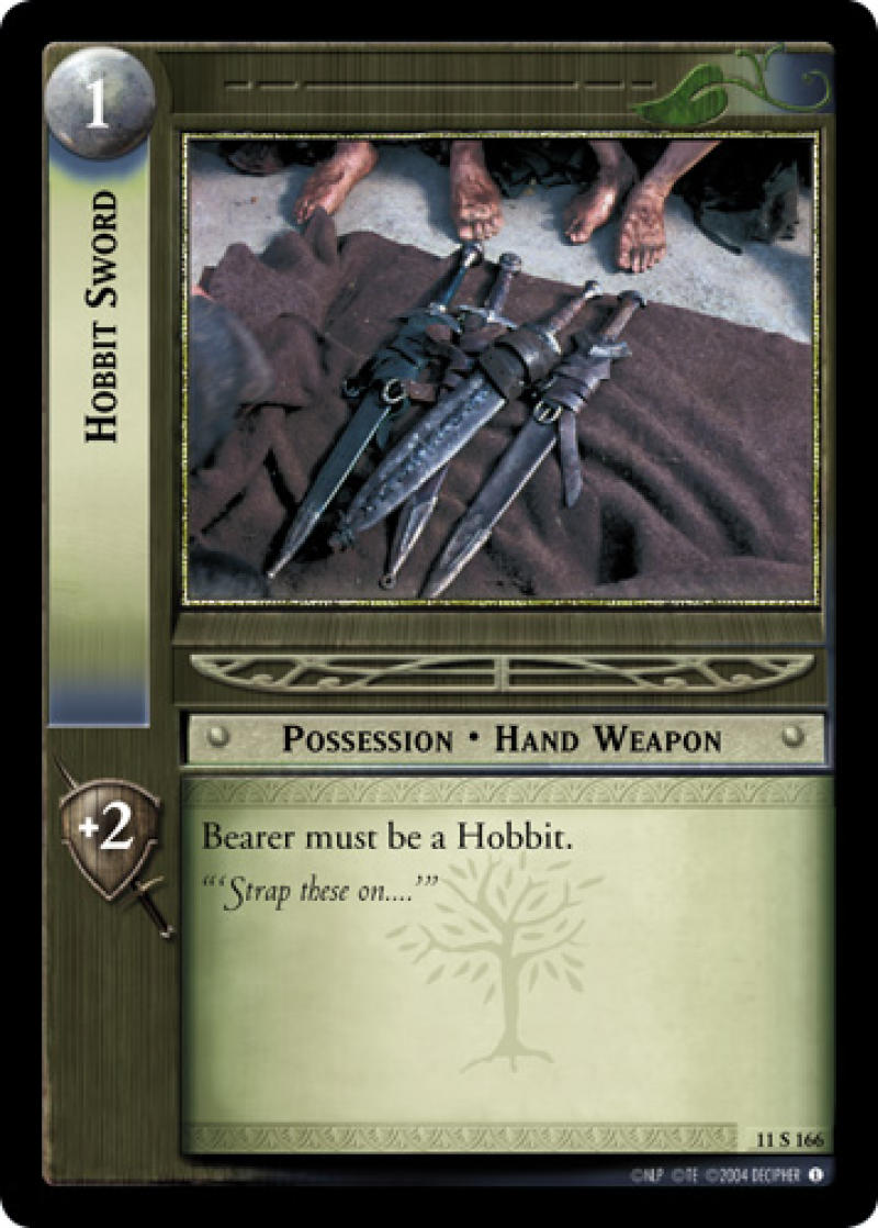 1x LOTR Lord Of The Rings Hobbit Sword Shadows 11S166 TCG Single