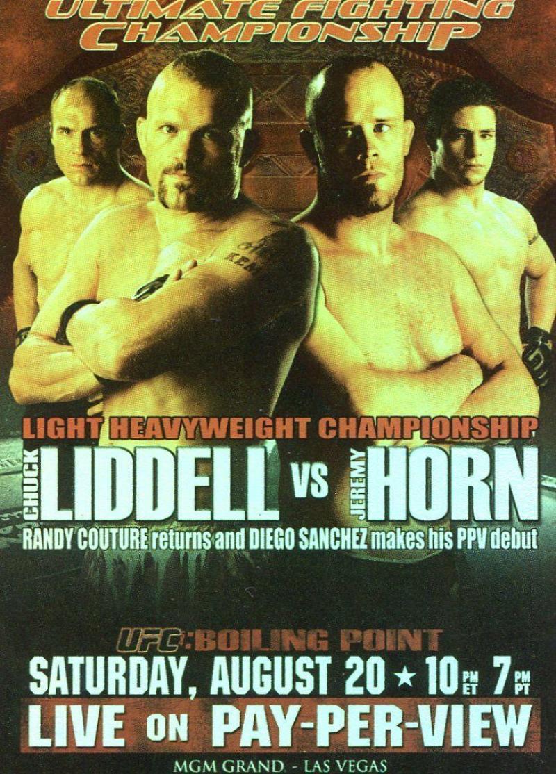 2010 Topps UFC Fight Posters #UFC54 UFC 54/Chuck Liddell/Jeremy Horn/Randy Couture/Diego Sanchez