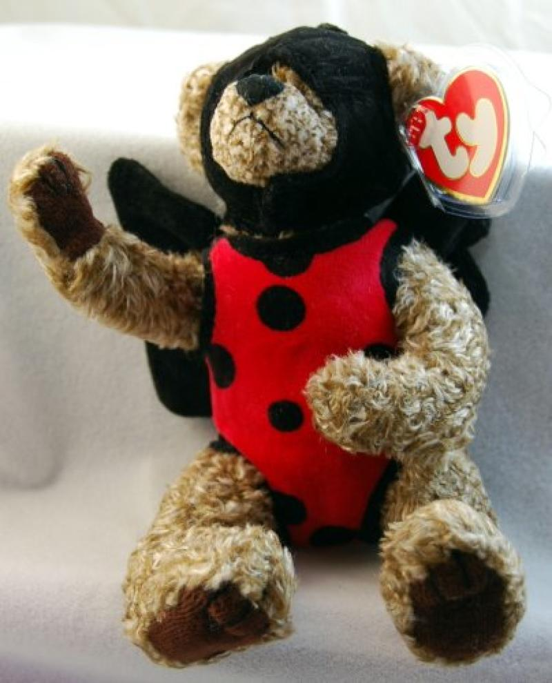 1993 Ty Attic Treasures - Bugsy the Bear Jointed Bear