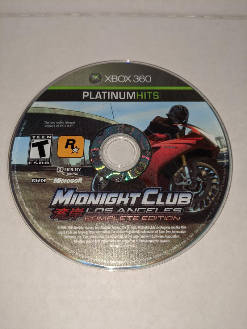 Xbox 360 Platinum Hits Midnight Club Los Angeles Complete Edition - Disc Only