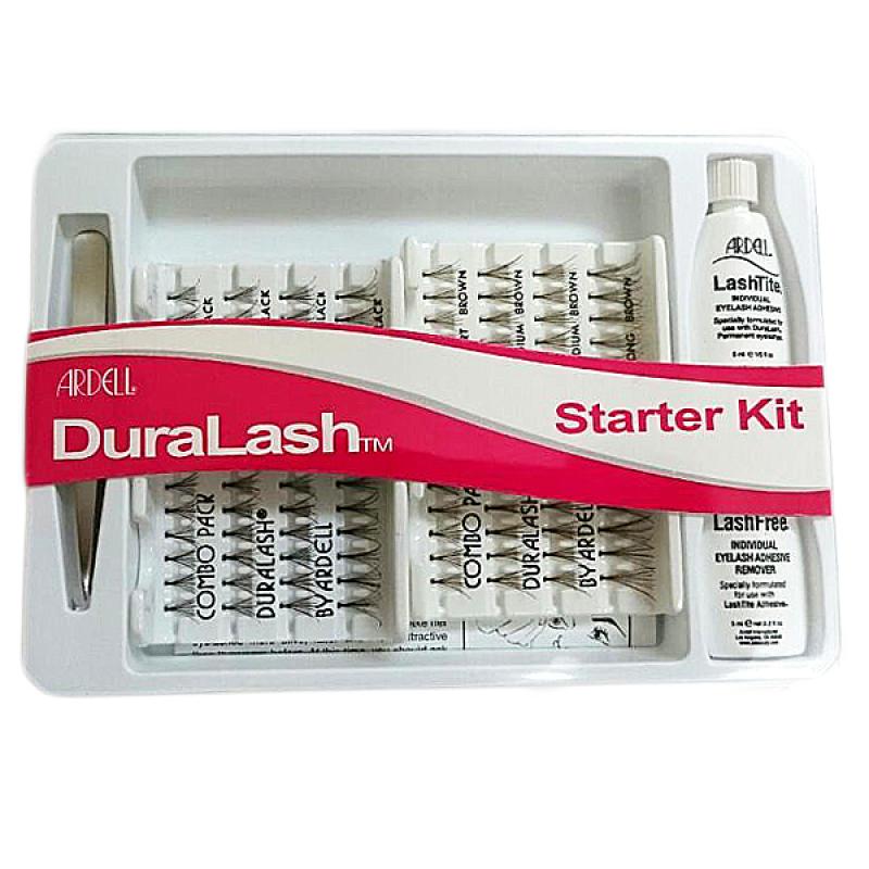 New Ardell Duralash Starter Kit Black & Brown with Tweezers & Glue