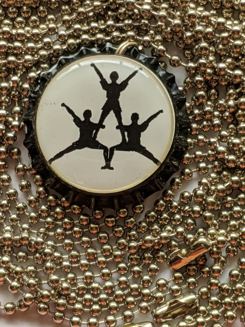 Cheerleaders bottlecap pendant necklace adjustable ball chain 24