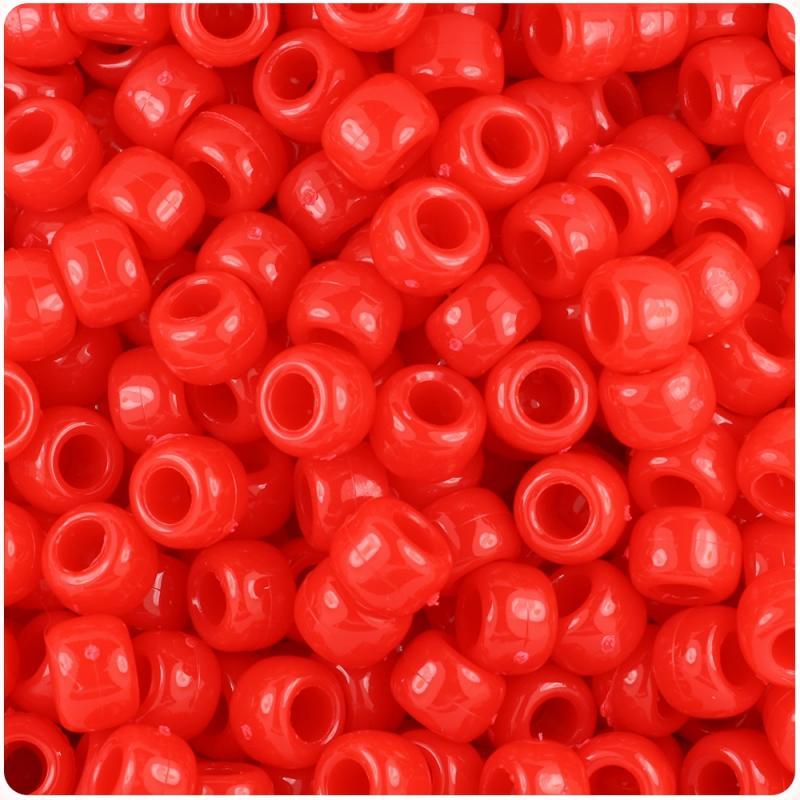 Lot of 250 Red Pony Acrylic beads (2.3 oz)
