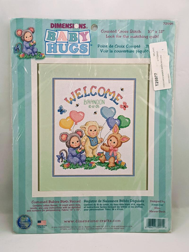 Dimensions Baby Hugs - Welcome - Item#72991 10