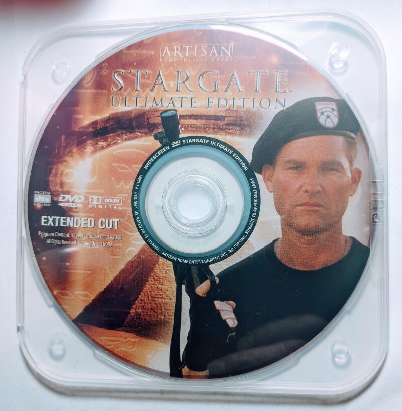 Stargate Kurt Russell Widescreen DVD *Disc Only* James Spader Extended Cut