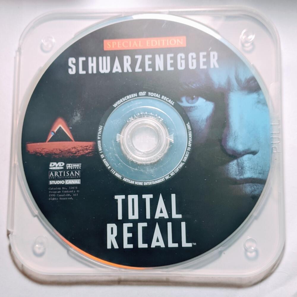 Total Recall Arnold Schwarzenegger Widescreen DVD *Disc Only* Special Edition