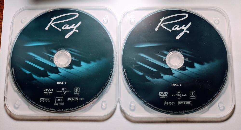 Ray Jamie Foxx Full Screen 2 Disc Set DVD *Discs Only*