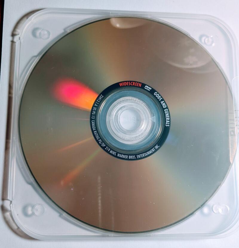 Gods And Generals Jeff Daniels Stephen Lang Robert Duvall Widescreen DVD *Disc Only*