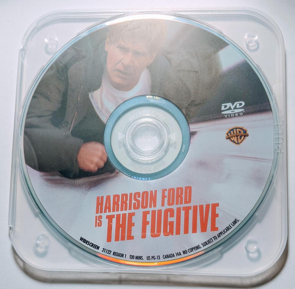 The Fugitive Harrison Ford Tommy Lee Jones Sela Ward Widescreen DVD *Disc Only*