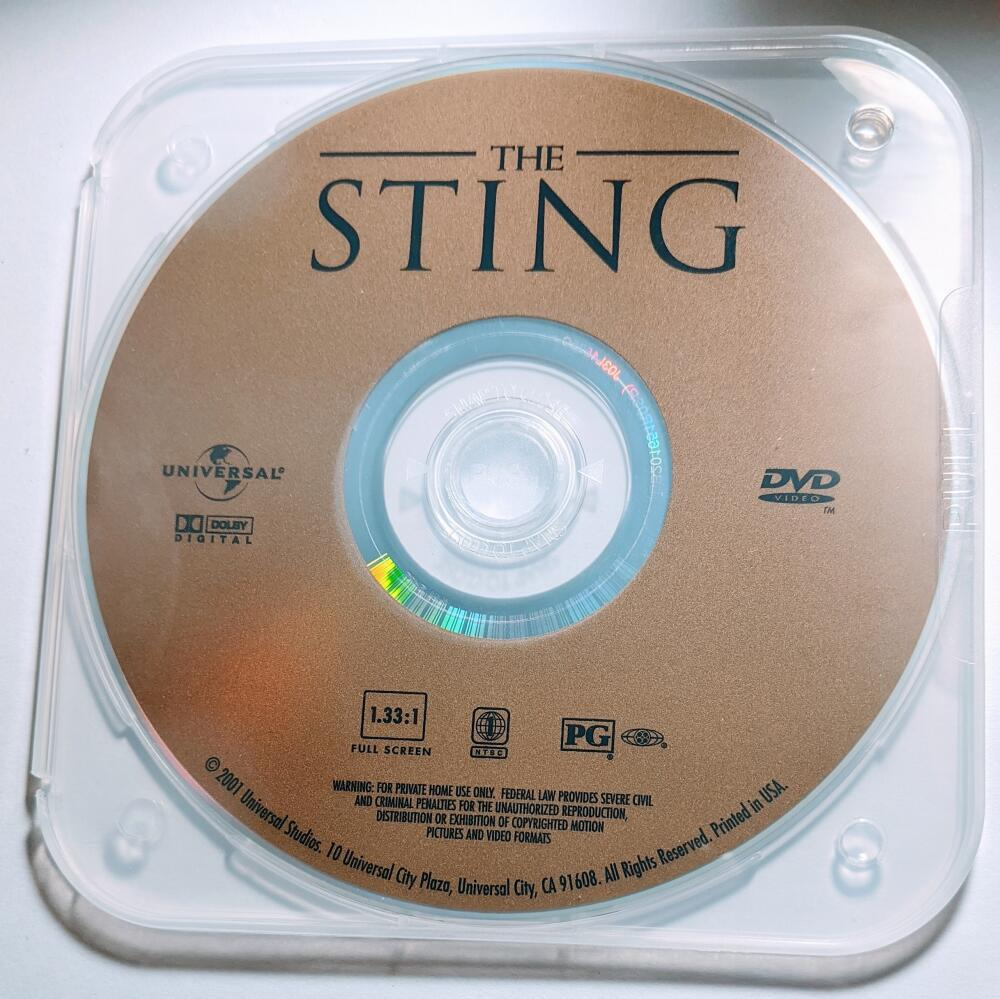 The Sting Robert Redford Paul Newman Robert Shaw Full Screen DVD *Disc Only*