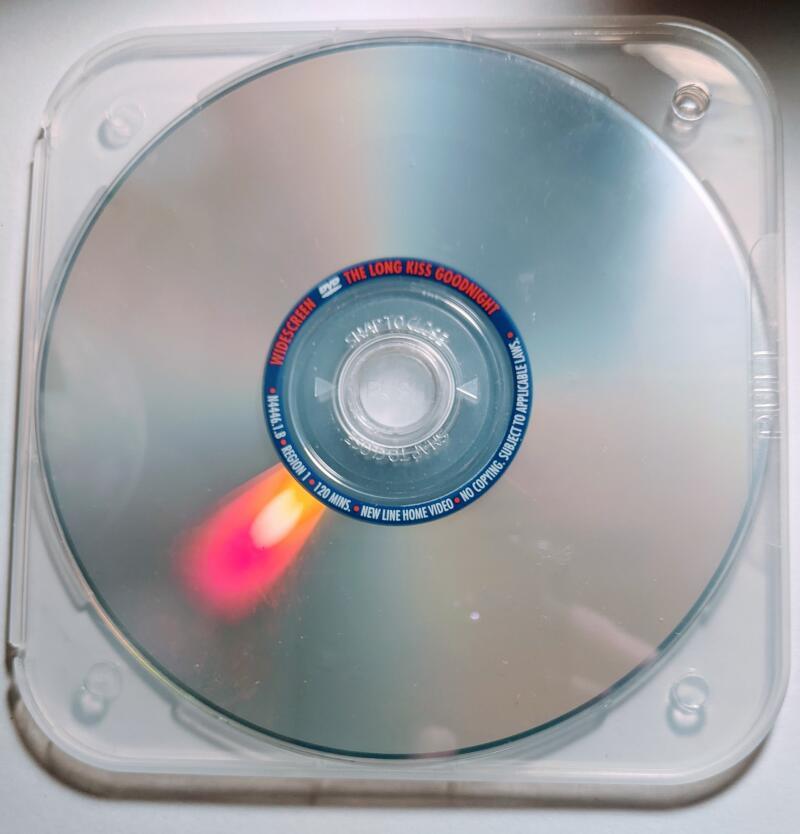 The Long Kiss Goodnight Geena Davis Samuel L. Jackson Standard/Widescreen DVD *Disc Only*