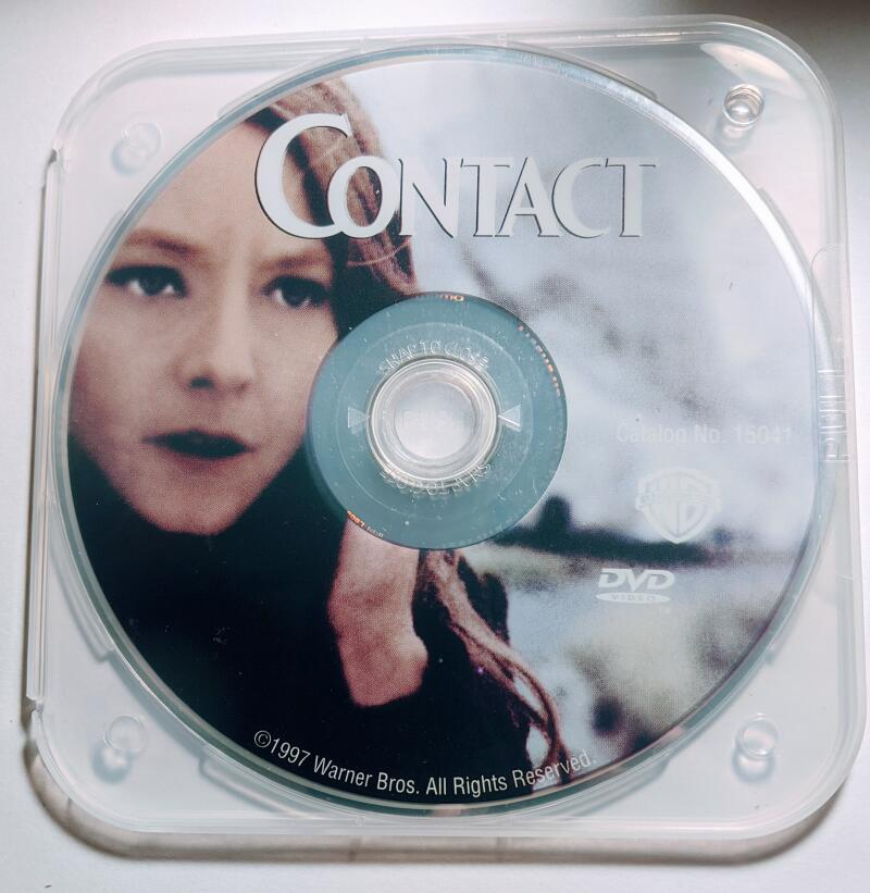 Contact Jodie Foster Matthew McConaughey Widescreen DVD *Disc Only*