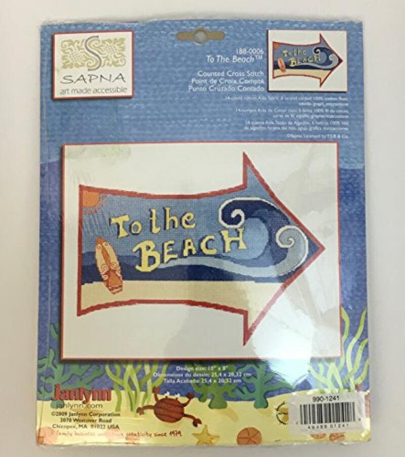 To The Beach ~ Counted Cross Stitch Kit ~ Finished Size 10