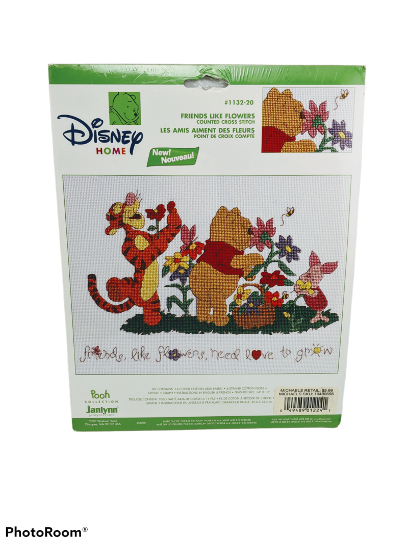 Friends Like Flowers - Winnie the Pooh Collection Disney  counted cross stitch kit #1132-20