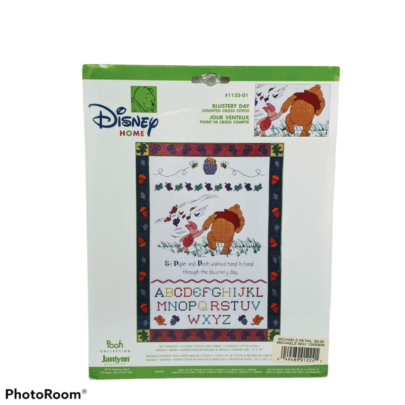 Blustery Day - Winnie the Pooh Collection Disney counted cross stitch kit #1132-01
