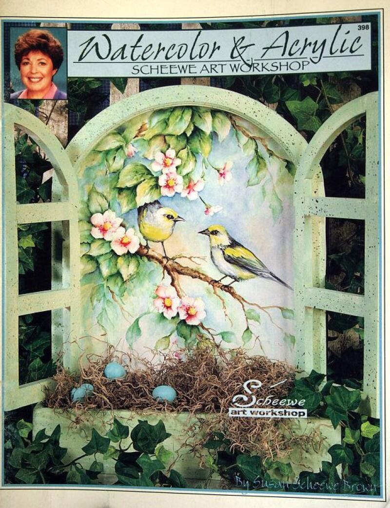 1997 Watercolor & Acrylic Scheewe Art Workshop pattern book