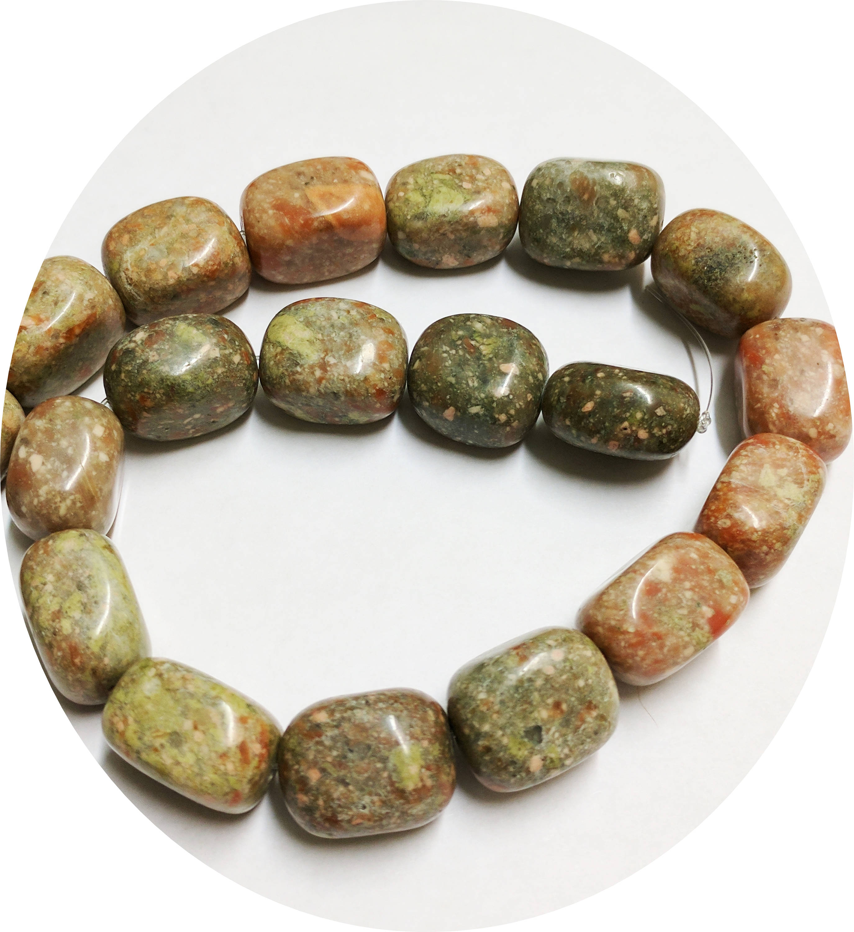 Natural Autumn Jasper large beads  approx. 10 beads loose