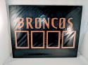 Denver Broncos 4 Trading Card Holder Wall Plaque 14