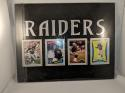 Los Angeles Raiders Oakland  4 Trading Card Holder Wall Plaque with Cards  14
