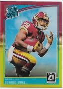 2018 Donruss Optic Red and Yellow #157 Derrius Guice Rated Rookie NM-MT