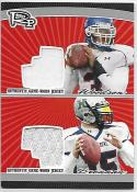 2008 Topps Rookie Progression Game Worn Jerseys Dual Platinum #PDRWB Colt Brennan/Andre Woodson 6/10